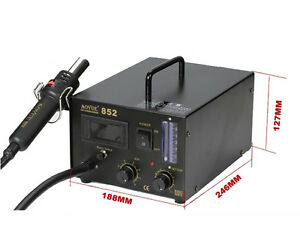 Aoyue 852 Desoldering Station Smd Rework Station With Hot Air Handle 110v