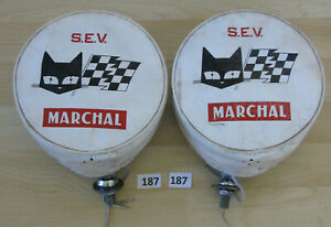 Marchal 720 700 Fog Driving Light Covers Pair Cibie Carello Hella