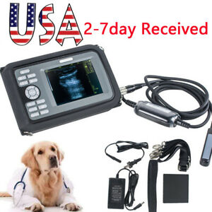 Usa 5 5 Inch Veterinary Portable Digital Ultrasound Scanner probe battery Fda