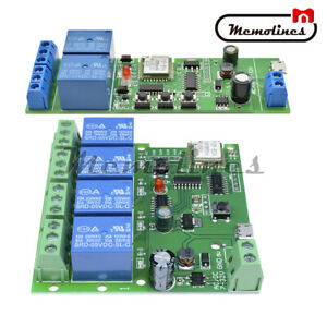 2 4 Channel Smart Switch Wifi Wireless Relay Module Home Remote Control Dc 7 32v