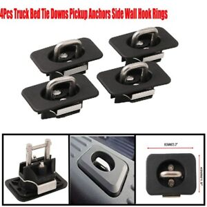 4x Truck Bed Tie Down Anchors Side Wall Hook Rings For Ford Raptor F150 1998 14
