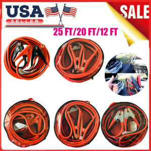 12 16 20 25 Ft Heavy Duty Power Booster Cable Emergency Car Truck Battery E5