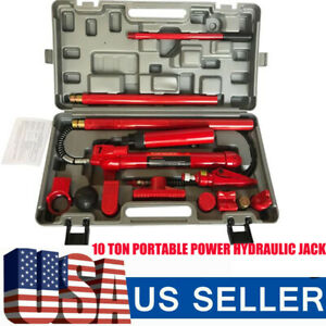 10 Ton Hydraulic Pump Jack Porta Power Ram Repair Lift Tool Kit High Ol