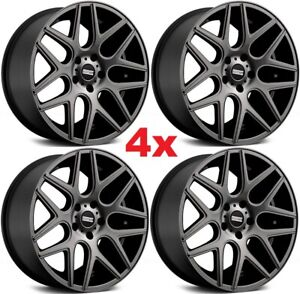 20 Gray Wheels Rims Staggered Offset Mesh Rohana Mrr Esr Niche Grey Titanium