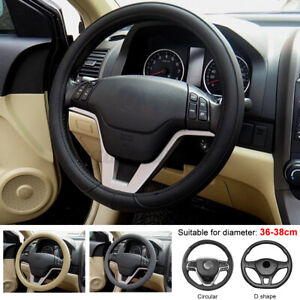 15 Leather Universal Soft Car Steering Wheel Cover Silicone Auto Leather Diy