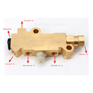 Pv2 Proportioning Valve For Jeep Cj 1977 1986 Gm Ford Chevy Disc Drum Brass Car