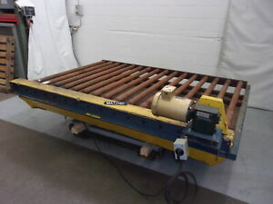 10f X 64 Powered Chain Roller Conveyor Lift Transfer Section mat2460