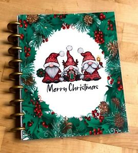 Gnomes Merry Christmas Holiday Cover Set 4 Use With The Happy Planner