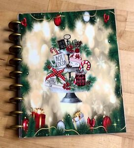 Farmhouse Plate Merry Christmas Holiday Cover Set 4 Use With The Happy Planner