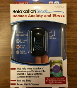 New Ichoice Smart Pulse Oximeter Relaxation Coach Bluetooth Heart Rate Oxygen