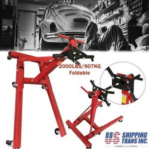 2000 Lb Engine Stand Folding Motor Hoist Dolly Mover Auto Repair Jack Foldable