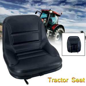 Tractor Seat Black With Back Rest Waterproof Lawn Mower Garden Tractor Utv atv