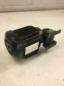 Leroy Somer Motor 3 ls63 0 06 Kw 240 480v W Right Angle Gear Drive Used