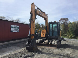 2016 Sany Sy75 Hydraulic Midi Excavator W Cab Only 1700hrs Super Clean