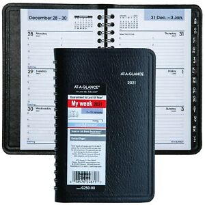 2021 At a glance Dayminder G250 00 Weekly Appointment Book 3 9 16 X 6