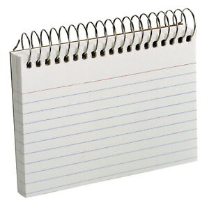 Oxford Perforated Ruled Spiral Bound Index Cards 3 X 5 Inches White Pack Of