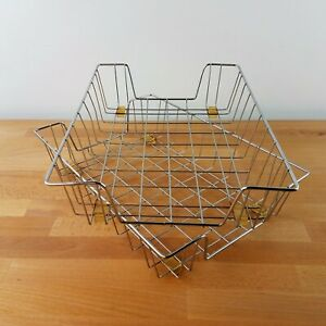 Vintage Wire Paper Baskets Desk Organizer 9 75 X 14 Set Of 2 In And Out Trays