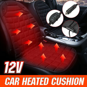 Universal Heated Car Seat Cushion 12v Heating Warmer Pad Cover Winter Heater Usa