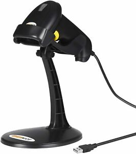 Wonenice Barcode Scanner W Stand Handheld Automatic Laser Usb Barcode Scanner