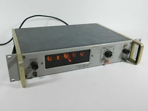 Hp 5512a Vintage Nixie Tube Frequency Counter powers Up Untested
