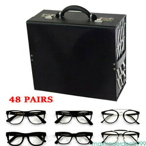 Sunglass Portable Carrier Suitcase Holds 48 Pair Glasses Eyewear Travel Storage