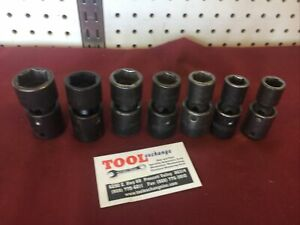 Mac Tools Wobble Flex Swivel Impact Socket Set 1 2 Drive Metric 7pc Usa Made