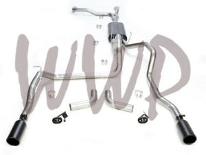 Dual 3 Cat Back Exhaust Black Tips For 04 15 Nissan Titan 5 6l W Flowmaster