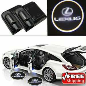 2x Pcs For Lexus Logo Wireless Led Door Logo Projectors Lights Usa Shipping