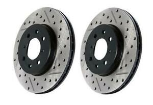 Stoptech Brake Rotors Sport Drilled Slotted 127 40062l Fits Acura 2004 2
