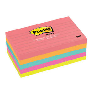 Post it Notes lined 3 x5 5 pk 100 Sh pad cape Town Ast