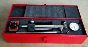 Vtg Starrett 669 Heavy Duty Magnetic Base With Extensions 25 441 Dial Indicator