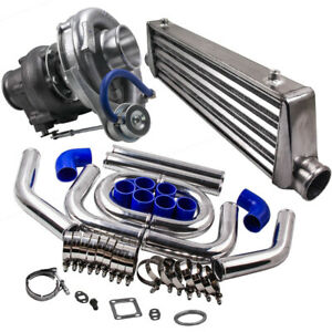 Universal T3 t4 T04e Turbo Charger Kit 27x7x2 5 Intercooler 2 5 Turbo Pipe