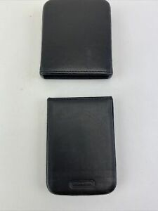 Coach Leather Credit Card Holder Business Card Holder Case W Cover Black