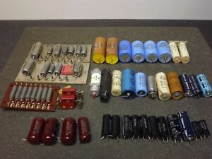 Mixed Lot Vintage Capacitors Mallory Sprague Good all 397