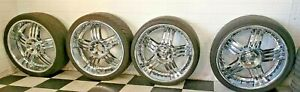 Custom Made Hot Wheels Chrome Rims With Tires Size 265 35 Zr22 102w M s