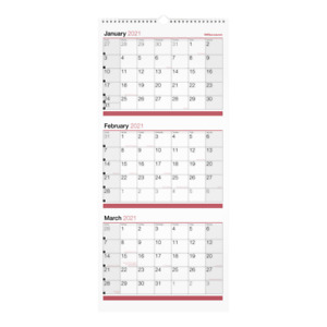 Office Depot 3 month Monthly Wall Calendar 12 X 27 Od30302821