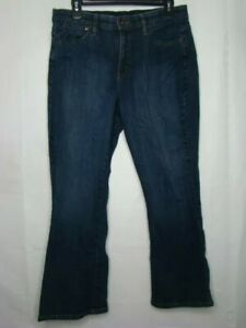 Lee 12 Petite Jeans Comfort Waistband Stretch Blue Dark Wash Stylish P7 $20.00