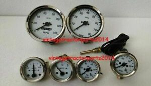 Smiths Replica 52mm Kit Oil Temp Oil Fuel Amp Gauge speedometer tacho 100mm