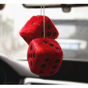 7 5cm Pendant Dice Colorful Hanging Dice Ornaments Fuzzy Sucker Decor Square Car