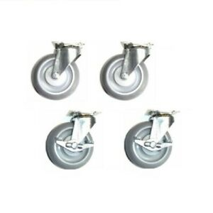 Four Regent Swivel Casters W 3 Monotech Soft Rubber Wheel And Small Top Plate
