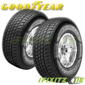 2 Goodyear Wrangler A T Adventure With Kevlar 245 70r17 Owl 60 000 Mile Tires