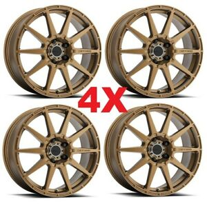 18 Method Rally Wheels Rims Bronze 5x100