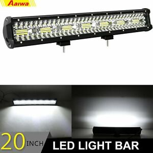 20 Inch 480w Led Light Bar Dual Row Combo Work Driving Ute Truck Suv 4wd Boat