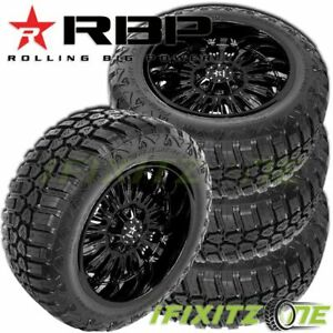 4 Rbp Repulsor M t Rx 33x12 50r20lt 114q E Off road Mud Tire Aggressive Sidewall