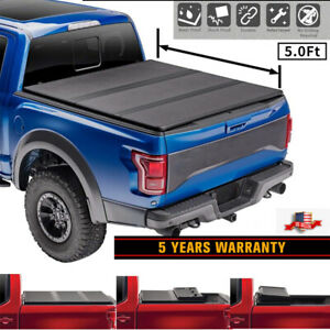For 2005 2019 Nissan Frontier Truck 5ft Bed Hard Tri Fold Tonneau Cover Rm