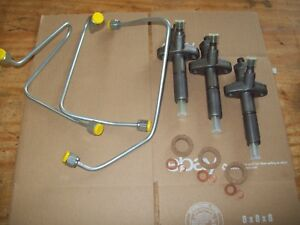 Ford 3000 Tractor Fuel Injector And Fuel Lines W simms Injection Pump 1966 1970