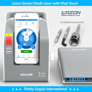 Lazon Dental Diode Laser 16 Watts Complete Set With 30 Tips Ipod Touch