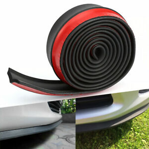 2 5m Universal Car Bumper Lip Splitter Body Side Spoiler Protector Rubber Ead