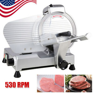 240w Electric Meat Slicer 10 Blade For Cheese Food Deli Stainless Steel Cutter