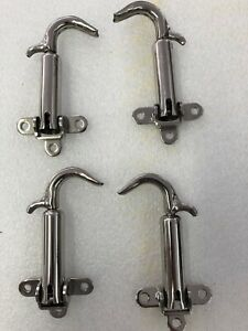 1928 And 1929 Model A Ford Ratrod Streetrod Chrome Steel Hood Latch Set Of 4
